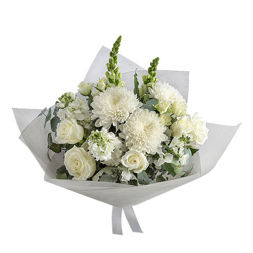 Aurellia white flowers in an elegant bouquet - Botanique Flowers and Gifts