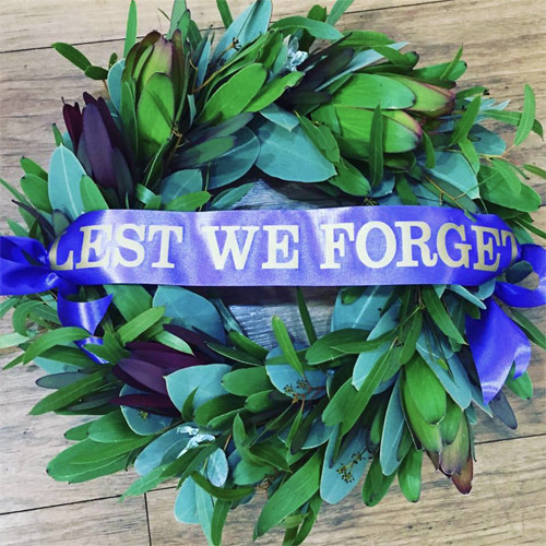 Native Foliage ANZAC Wreath - Botanique Flowers and Gifts