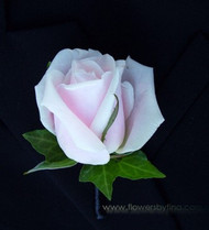 Pale pink rose buttonhole Jacob - Botanique Florist Gold Coast