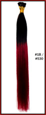 "20"" Stick Tip Human Hair Extension Reverse Dip Dye #1B/#530"