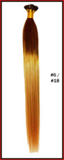 "20"" Stick Tip Human Hair Extension Reverse Dip Dye #6/#18"