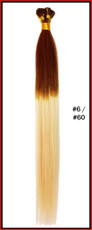 "20"" Stick Tip Human Hair Extension Reverse Dip Dye #6/#60"