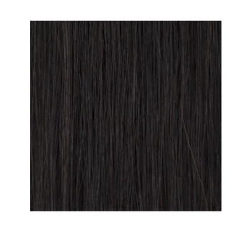 "14"" Double Drawn Nano Tip 100% Human Remy Hair Extensions - #1B Off Black"