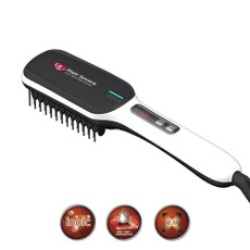 Hair Lovers Straightening Brush with curved Edge