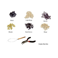 Hair Extensions Kit - Silicone Micro Rings, Pulling Loop & Pliers