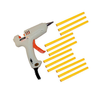 Hair Lovers mini glue gun in white with 12 small glue sticks