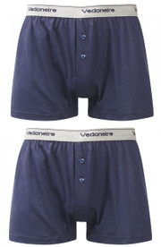 2 pack Jersey Boxers in Navy (2247) by Vedoneire