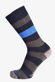 Mens Stripy Socks (1225 navy).