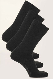 Mens Black 3-pack Cotton Socks by Vedoneire