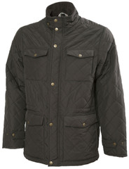 Mens Quilted Jacket (3038) in green. Designed for layering of clothing underneath, so a boxy fit to accommodate this.