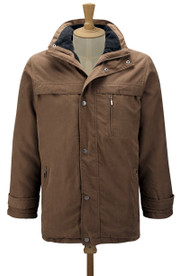 Mens Beige Car Coat (3035). Sizes M to 3XL