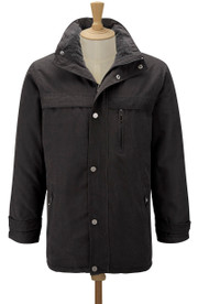 Men's Microfibre Jacket (Black 3035) microfibre winter coat