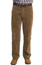 Men's Comfort Fit Cord Trousers  (Beige 3500)