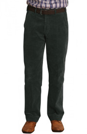 Men's Comfort Fit Cord Trousers  (Green 3500)