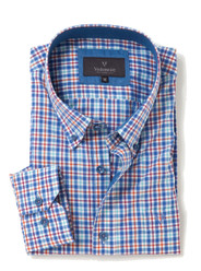 Men's Soft Wash Cotton Long Sleeve Check Shirt (2274 Hartsfort) by Vedoneire of Ireland