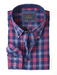 Men's Soft Wash Cotton Long Sleeve Check Shirt (2274 Paget) by Vedoneire of Ireland