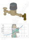 AVG PRESSURE LIMITING VALVE BOUNDARY 20mm 500KPA Right Angle Copper x Female - Pressure Loss