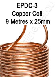 EPDC-3 Copper Coil 9 Metres x 25mm