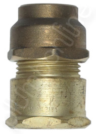 Brass 25mm FI x 25mm Copper Union with brass cone