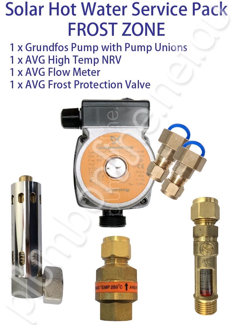 Solar Hot Water Service Pack Frost Zone Plumbonline