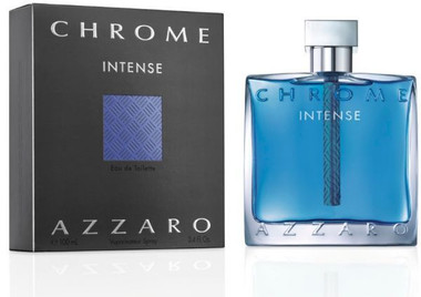 Azzaro Chrome Intense Eau De Toilette Spray For Men 3.4oz