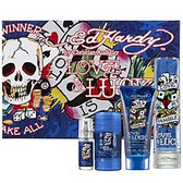 Ed Hardy Love & Luck 4pc Gift Set Men