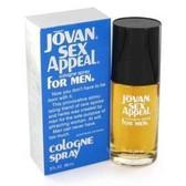 Jovan Sex Appeal by Coty 3.0oz Eau De Cologne Spray Men