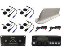 4-Place Intercom and Analog VHF 110-Watt Radio Helmet Kit
