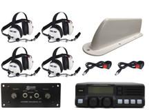 4-Place Intercom and Analog VHF 110-Watt Radio Headset Kit