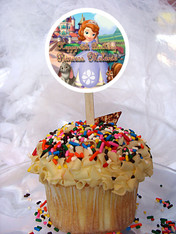 Sofia the First cupcake topper