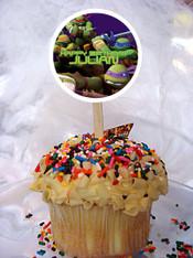 Ninja Turtles cupcake toppers