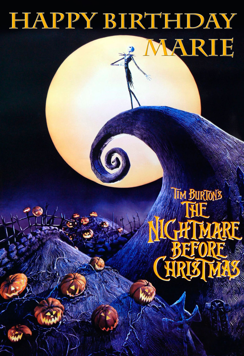 The Nightmare Before Christmas Personalized Poster