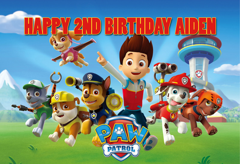 paw patrol personalized poster