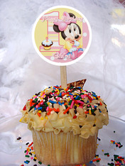 Minnie Mouse 1st Year Cupcake Toppers