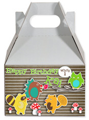 Woodland creatures party favor box