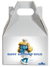 Smurfette party favor box