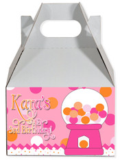 Gumball party favor box