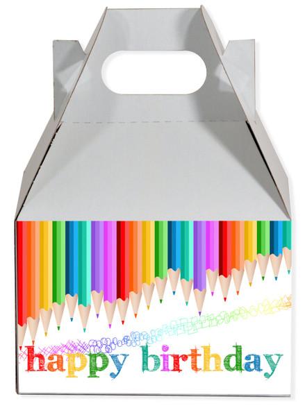 Art party favor box