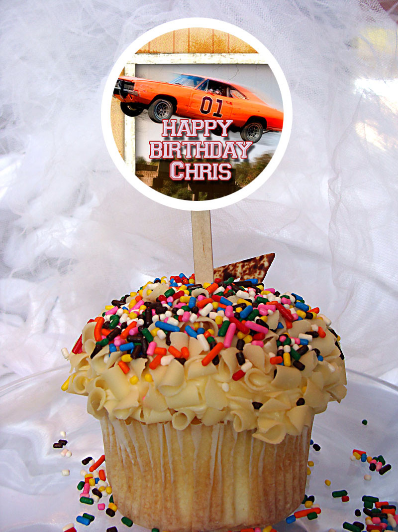 The Dukes Of Hazzard Personalized Cupcake Toppers
