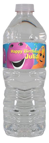 Barney water bottle labels