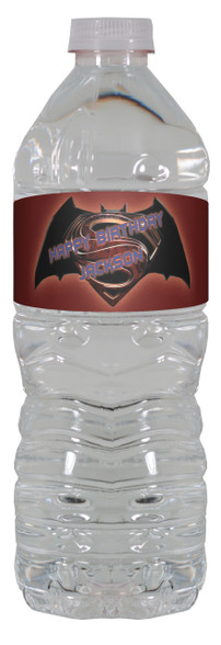Batman vs Superman water bottle labels