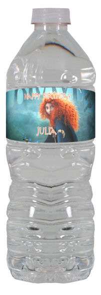 Brave personalized water bottle labels