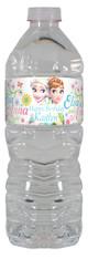 Disney Frozen Fever personalized water bottle labels