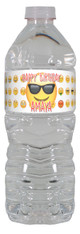 Emoji personalized water bottle labels