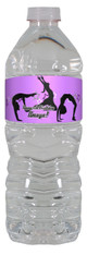 Gymnastics personalized water bottle labels