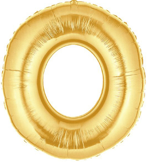 Gold Mylar Balloons number 0