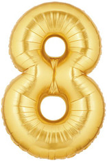 Gold Mylar Balloons number 8