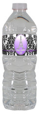 Paris in purple water bottle label