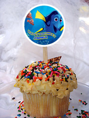 Finding Dory cupcake toppers