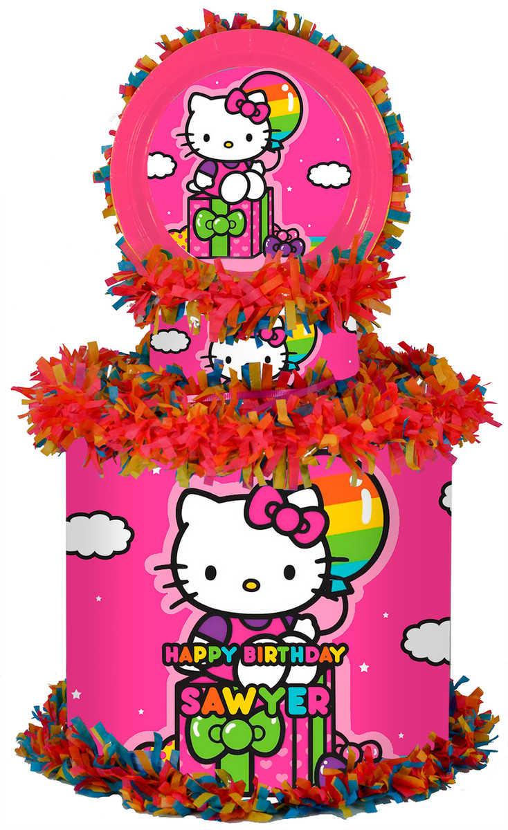 2499eb752 Hello Kitty Personalized Pinata - WorldOfPinatas.com